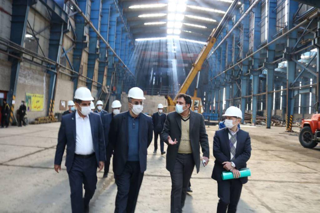 بازدید از تعدادی از کارخانجات تولیدی و خدماتی در استان مرکزی