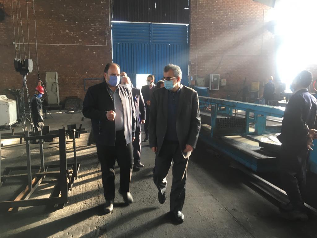معاون مدیرعامل بانک توسعه تعاون از ۶ طرح اقتصادی کرمان بازدید کرد