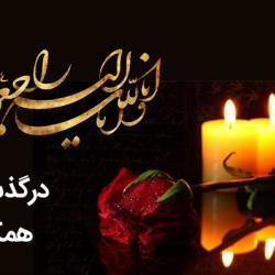 پیام مدیرعامل بمناسبت درگذشت همکار گرامی سرکار خانم والیزاده